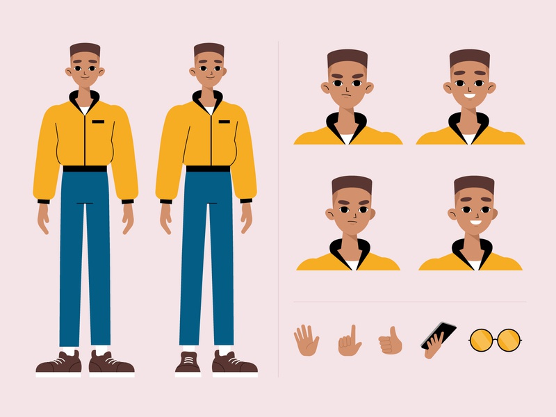 Character poses illustration motion graphics man motion design character poses vector character concept illustration flat designs flat design