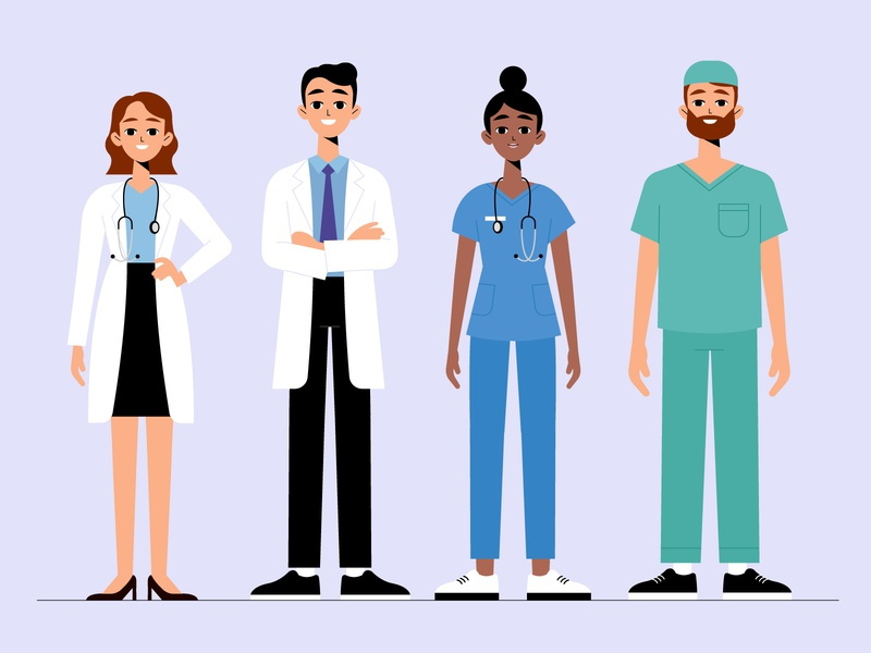 Heroes covid-19 heroes doctors woman men coronavirus vector character concept illustration flat designs flat design
