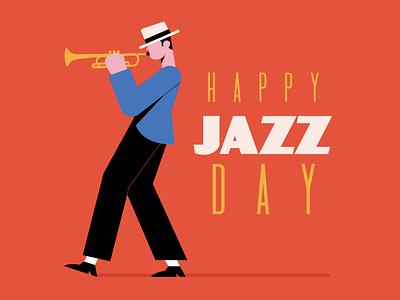 International jazz day jazz day jazz freepik free flat designs character concept vector illustration free resource flat design