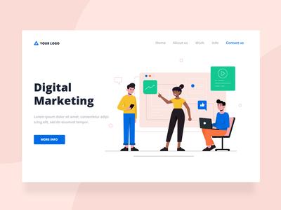digital marketing landing page