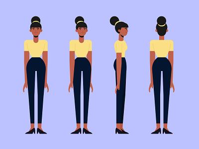 Cartoon woman character template woman freepik free flat designs character concept vector illustration free resource flat design