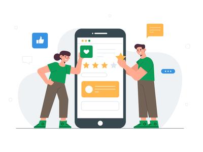 Reviews concept landing page