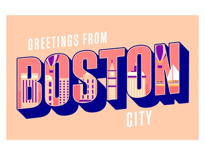 Boston City Lettering