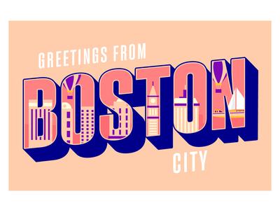 Boston City Lettering
