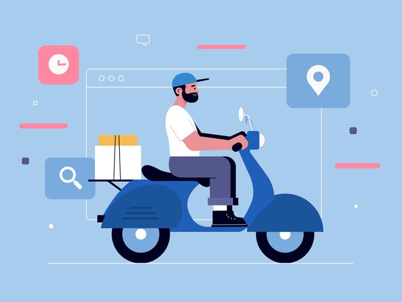 Man Scooter Delivery men freepik free character concept vector illustration free resource flat designs flat design