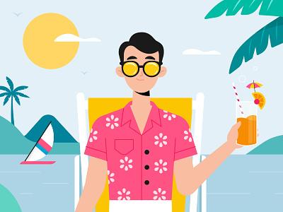 Latam, Mi Cuenta character design men character concept vector illustration flat designs flat design