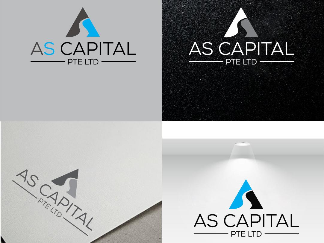As Capital icon as as logo vector logo design illustrator branding typography illustration animation