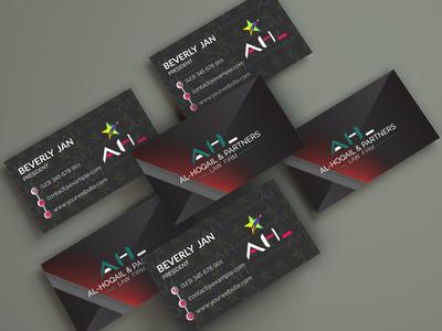 Business card design.