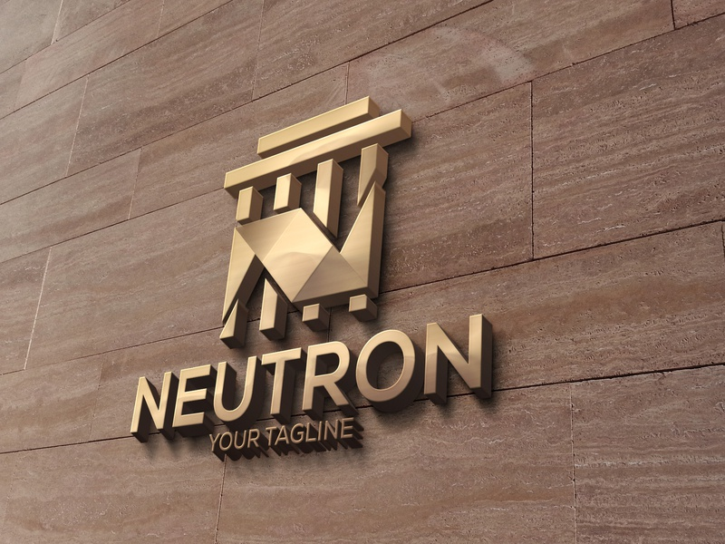 Neutron logo design logo design design logo animation illustration branding illustrator typography neutron logo design neutron logo neutron