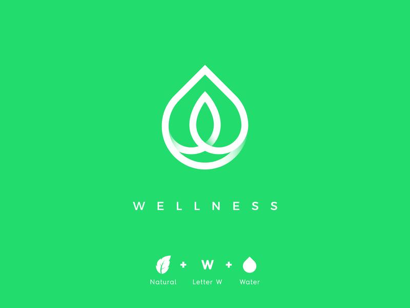 Wellness eland99 logo inspiration nature healthy green eco leaf wellness