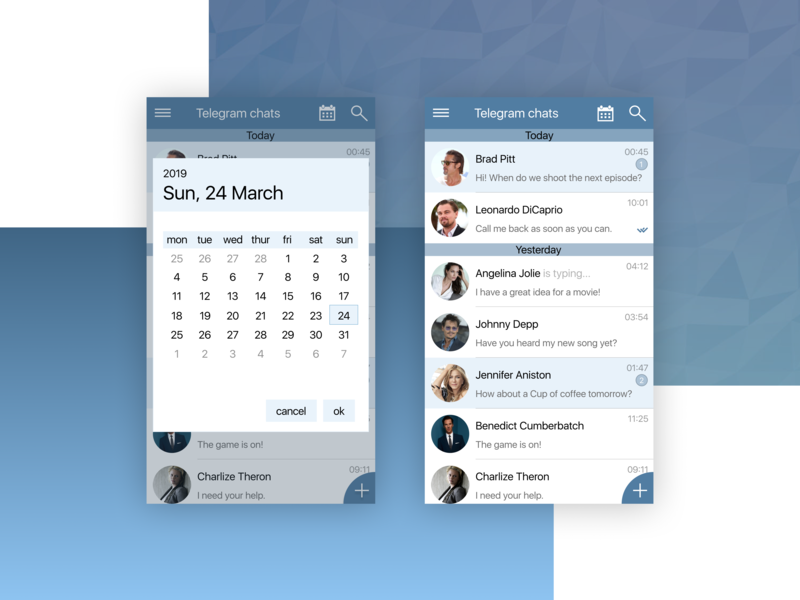 Telegram App Redesign by Ekaterina Eva on Dribbble