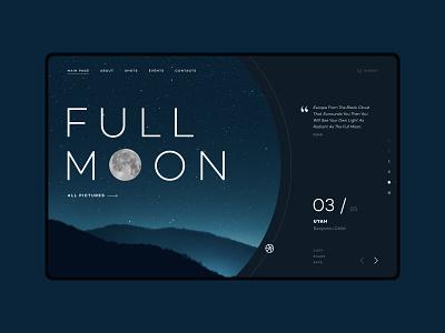 FULL MOON Landing Page landing ui design moon