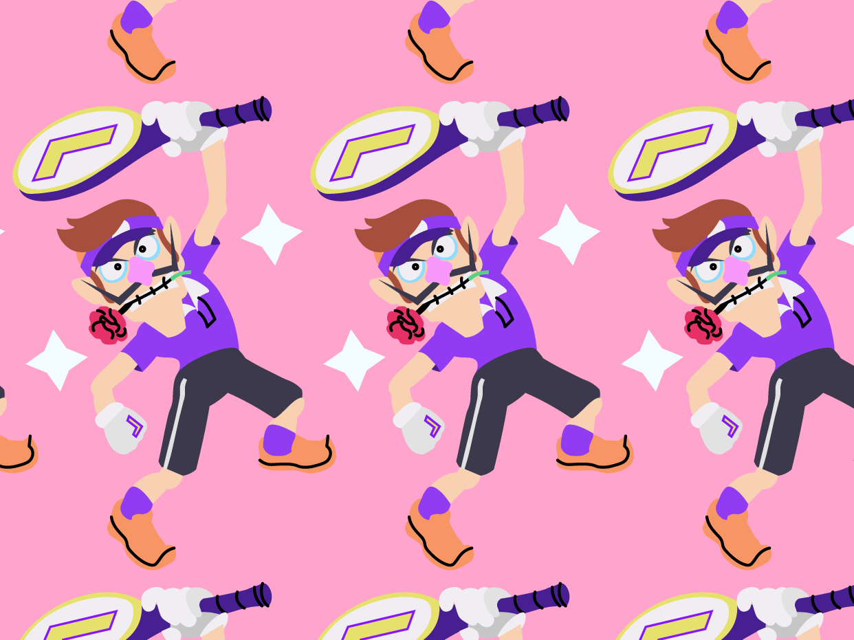Waluigi Pattern vector nintendo illustrator illustration digital art digital design