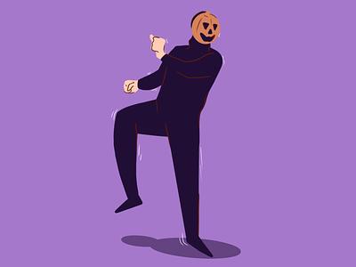 Weekly Warm Up halloween spooky pumpkin procreate design digital illustration digital art