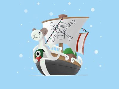 Mugiwara Holiday holiday anime one piece illustrator design procreate digital illustration digital art