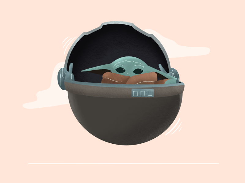 The Child star wars digital art illustrator illustration procreate