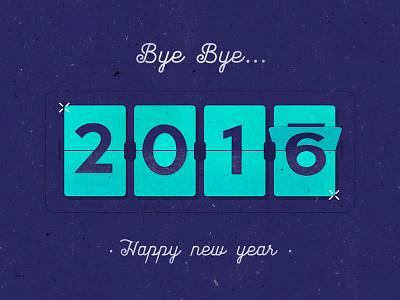 Happy new year! date calendar texture illustration type year flip newyear happynewyear