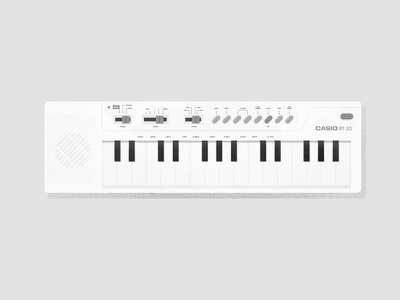 Casio PT-10 instrument play illustration 80´s key song childhood casio music keyboard