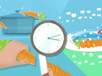 Cooking cooking pot fish carrot clock motion food cook cooking