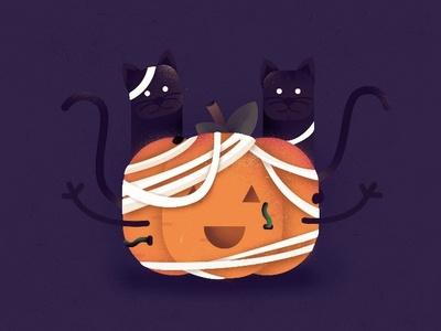 Pumpkin halloween pumpkin cat