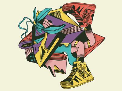 Sneakerz kicks abstract illustration
