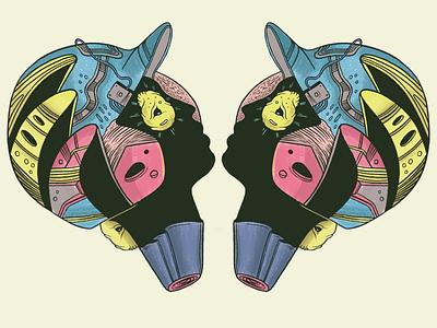 Cabezas abstract illustration
