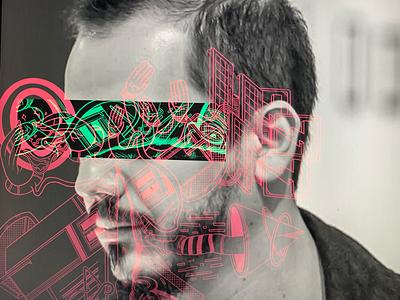 KH305 patterns illustration cyborg