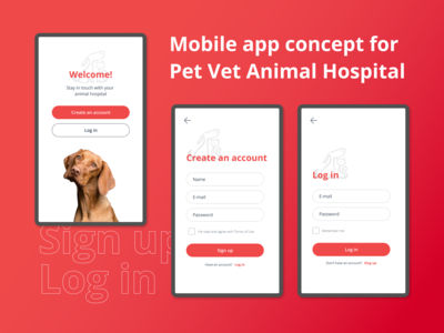 Pet Vet Hospital Mobile App Concept