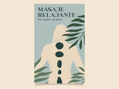 Self-care in the form of a massage vector design relaxing pastels body women illustration botanical illustration hot stone massage massage therapy massage