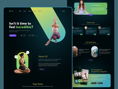 Yoga Studio Homepage wellness website design clean landing minimal health web design web ux yoga branding graphic design ui