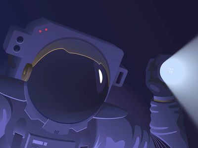 Hello Dribbble! hello dribbble debut aliens astronaut vector illustration after effect animation 2d first shot