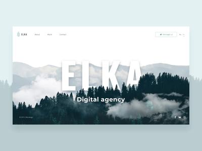 ELKA - website motion design animation ui  ux concept motiongraphic after affects portfolio studio agency cold website site hompage motion
