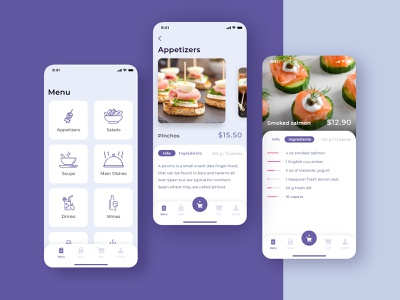 Restaraunt App order food minimal mobile app restaraunt food design ui app