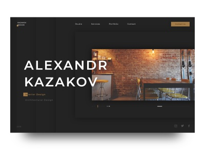 Architect studio black portfolio studio ui ux web  design interior design architect