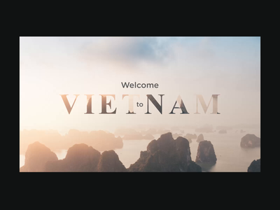 Welcome to Vietnam - Animation holiday video aftereffects tourism interaction website web ux uiux ui hero image digital design concept animation
