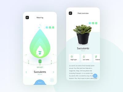 Plant app mockup mobile white graphic concept minimalistic ui  ux clean app design ios design app plants