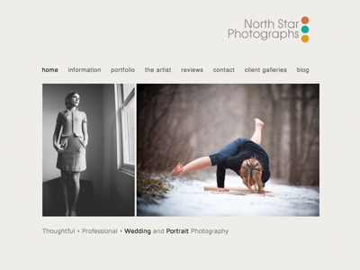 North Star Photographs web designbot creative
