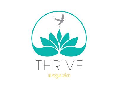 Thrive At Vogue Salon Logo design logo