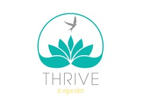 Thrive At Vogue Salon Logo design logo