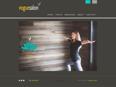 Vogue Salons yoga salon web design
