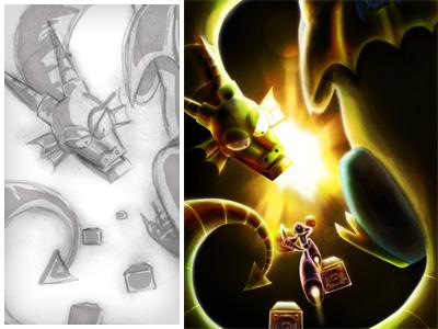 Mega Man 2 - Dragon Boss