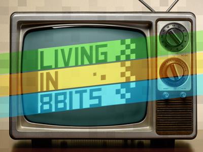Living in 8 Bits - dead logo