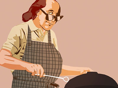 Ben Franklin illustration - Yards Brewery