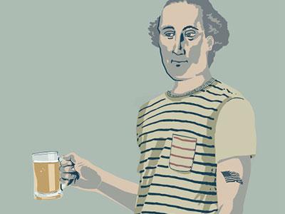 George Washington illustration - Yards Brewery