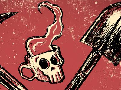 Graveyard Shift - label design detail 3