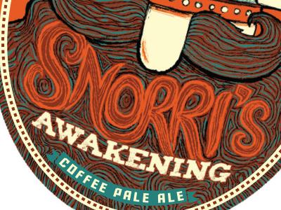 Snorri's Awakening - Yards Tap Sticker logo yards beer coffee pale ale viking icelandic norse snorri