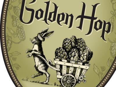 Golden Hop - label detail yards brewing company philadelphia hops label beer brewery yards
