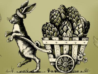 Golden Hop - label detail 3 yards brewing company philadelphia hops label beer brewery yards