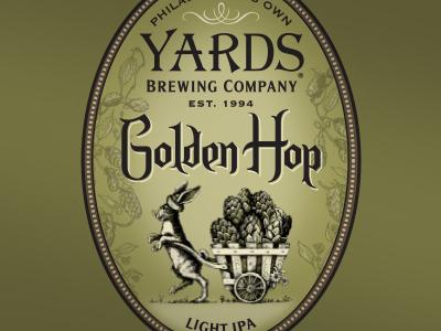 Golden Hop - label detail 4 company brewing label hops philadelphia yards brewery beer