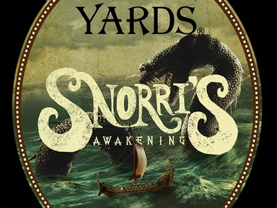 Snorri's Awakening alternate design sea monster label beer yards brewing company brewery yards snorri